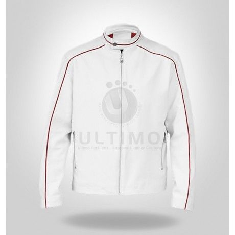 Cool White Leather Jacket    Who does not love leather jackets? Whether you are a male or female, you will never get old of one thing and that is leather jackets. If you are in search of something unique this time, then go ahead and purchase this Cool White Leather Jacket. It is unli