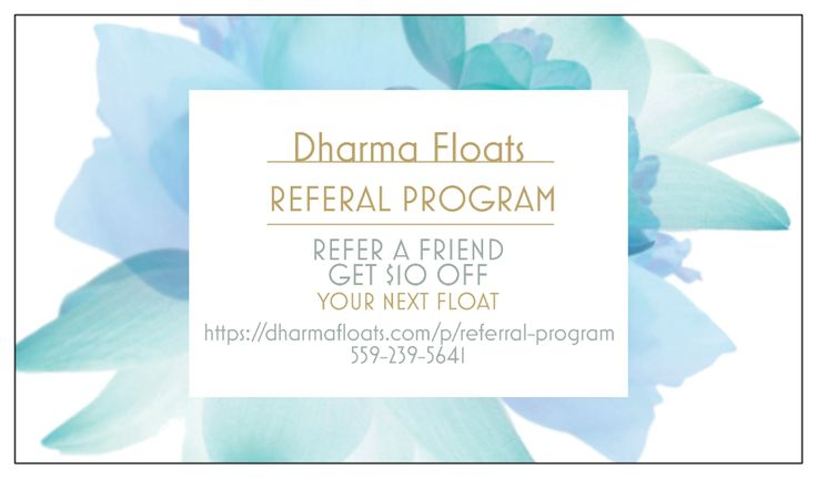 Get rewarded for sharing! Refer a friend get $10 off your next float