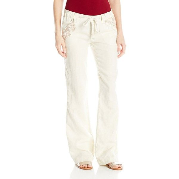 Miss Me Women's Wide Leg Cargo Pant ($71) ❤ liked on Polyvore featuring pants, draw string pants, pocket pants, wide leg cargo pants, wide leg trousers and drawstring pants