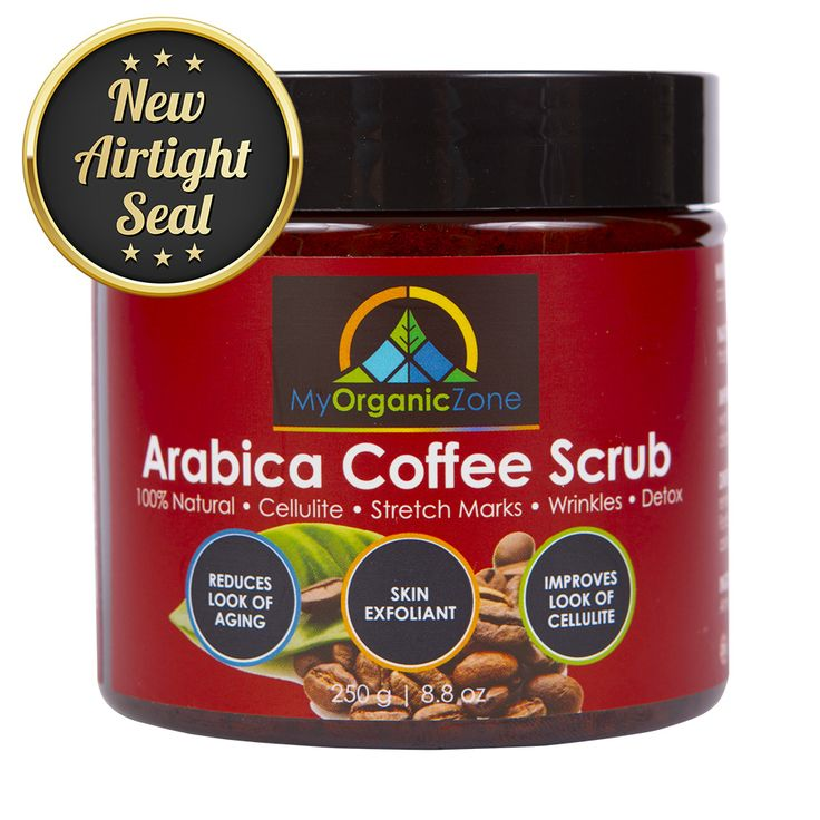 Arabica Coffee Scrub: https://myorganiczone.com/product/arabica-coffee-scrub/ Arabica Coffee Scrub: – 100% Natural – Improves the Look of Cellulite – Skin Exfoliant Arabica Coffee Scrub was designed for the day to day maintenance of a clean and healthy looking skin. As a result, once applied, it helps regenerate your skin, reduces signs of cellulite, stretch marks or wrinkles. Due to the very careful formulation, our arabica coffee scrub has many positive effects on the body's skin.