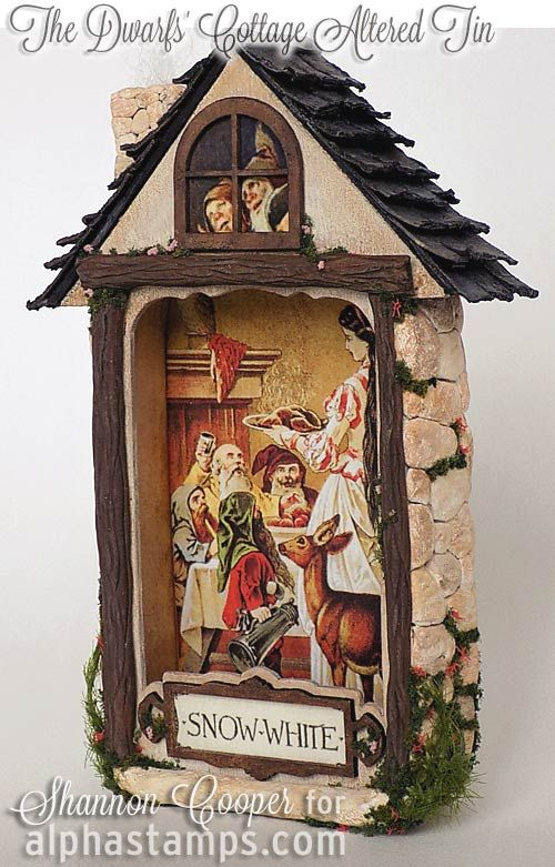 Alpha Stamps News » An Altered Tin, New Architectural Molds & Shingles!