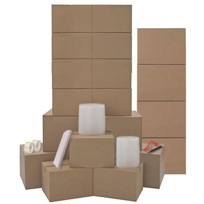 Moving Boxes Kit For One Room - 20 HEAVY DUTY Moving Boxes & Packing Supplies