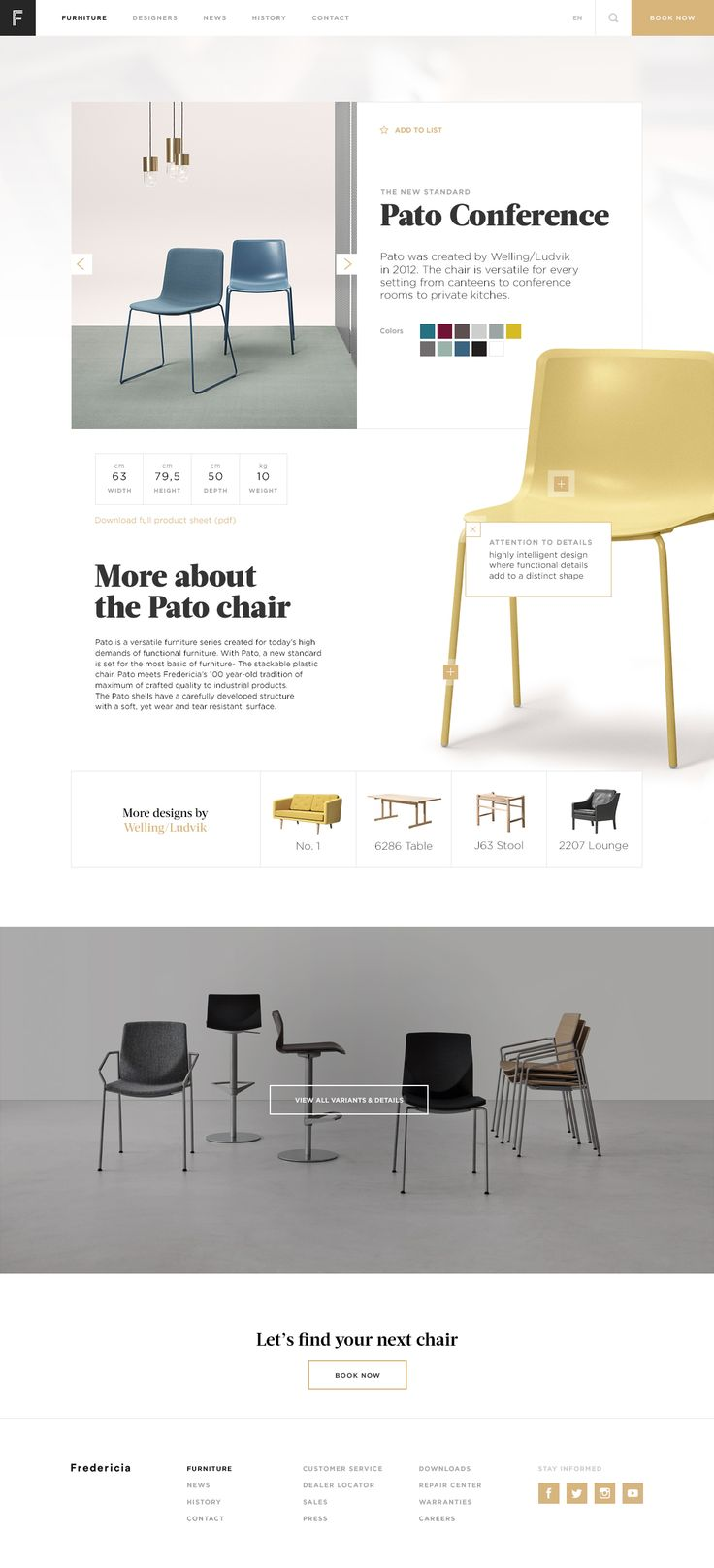 Fredericia Furniture redesign by Mikael Waaben Blædel