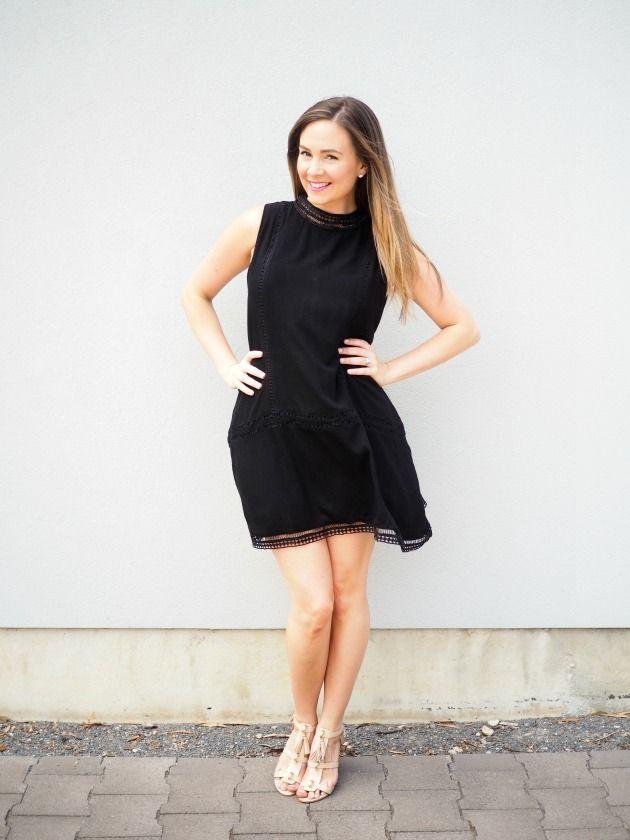 @soniastyling1 wears our black Fiesta dress'.