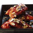 Apricot chicken w/almonds (gonna throw some 'o dat on my tofu too)