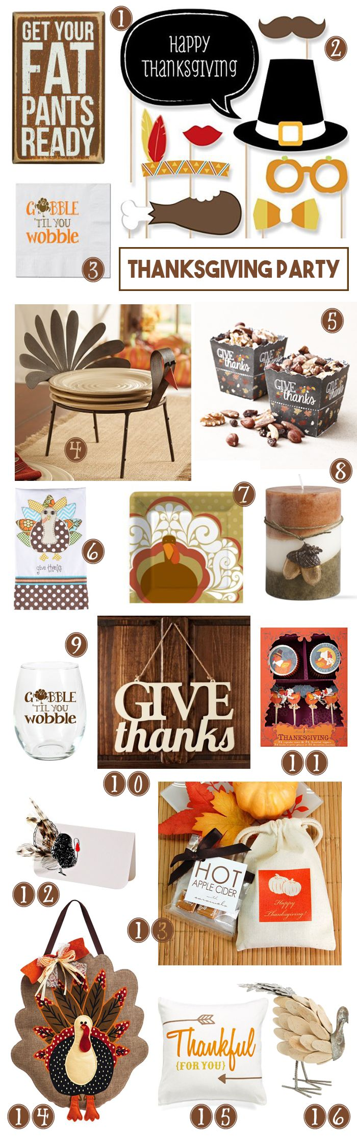 Thanksgiving Party Supplies Giveaway