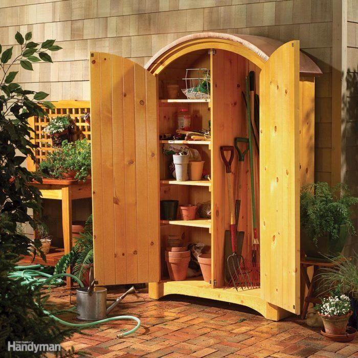 16 Easy Garage Space Saving Ideas 16 Easy Garage Space Saving Ideas Ideen Finanzieren Auf Unserer Website Hinzuge In 2020 Diy Shed Plans Garden Tool Storage Diy Shed