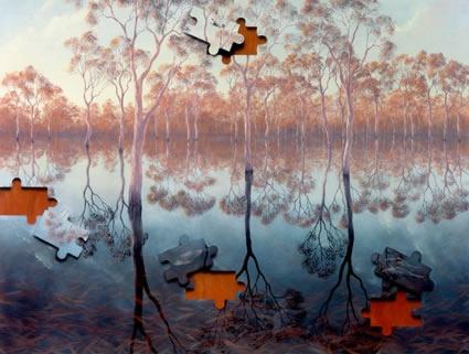 Australian Fine Art Editions - Artist Lin Onus - Barmah Forest