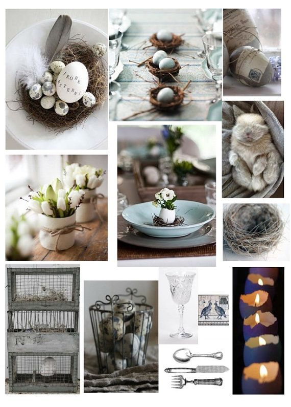 Easter Decorations - Customized Mood Board (Decorating Services) on Etsy, $120.42