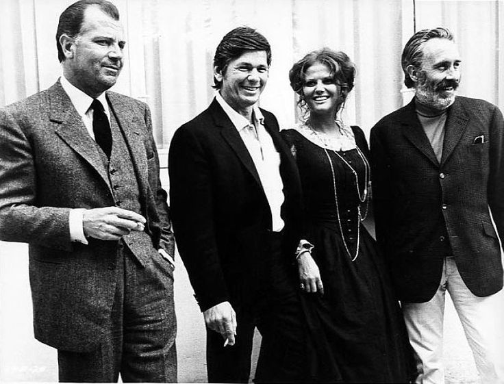 Once Upon a Time in the West. Sergio Leone, Charles Bronson, Claudia Cardinale and Jason Robards