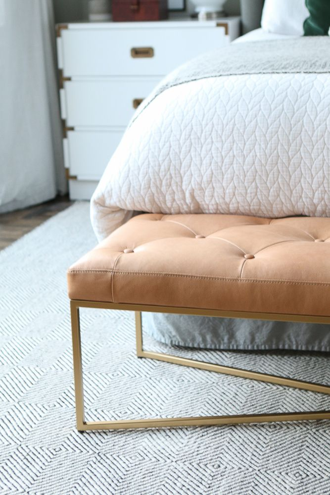Cognac Leather Bench from Article for the Master Bedroom ...