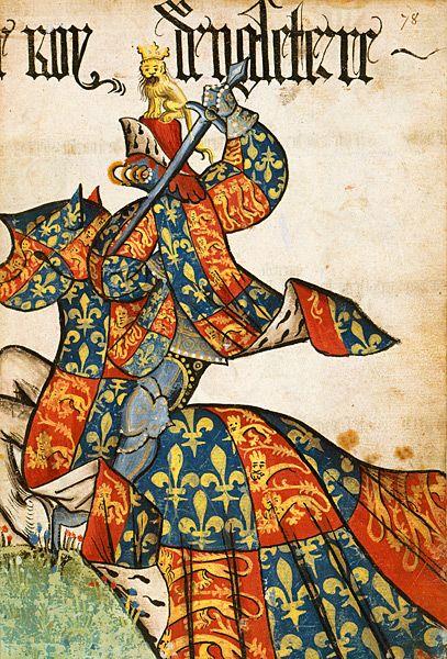 Le roi d'Angleterre, Grand Armorial équestre de la Toison d'Or, Flandres, 1430-1461.