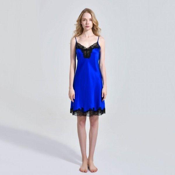 Petite Silk Nightgown Pajamas Slip For Ladies - OOSilk (340 BAM) ❤ liked on Polyvore featuring intimates, sleepwear, nightgowns, silk nightdress, silk sleep wear, petite nightgown, petite sleepwear and silk nightie
