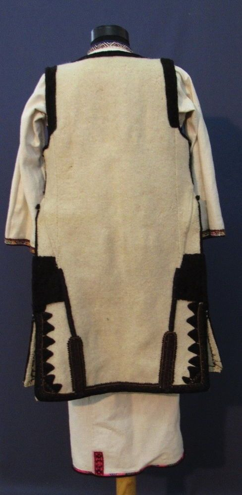 26287c0c0 Antique Linen Dress Folk Art Europe 1860's Macedonia Robe Chemise Jacket  Vest #Handmade