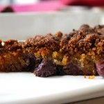 Glutenvrije kruimeltaart met blauwe bessen