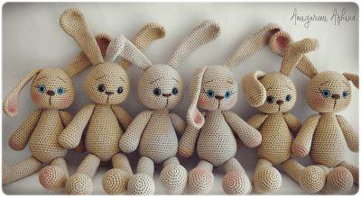 Amigurumi-freies Muster, Bau von Amigurumi, Bau von Amigurumi-Kaninchen, Spielzeug-Kaninchen stricken, Muster-Kaninchen frei