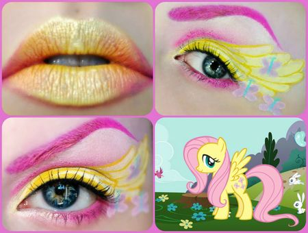 the hot pink and bright yellow is so hot! Fluttershy http://www.makeupbee.com/look.php?look_id=59069