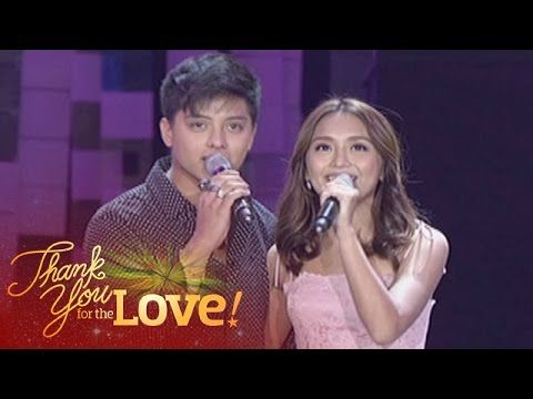 "Here are Kathryn Bernardo and Daniel Padilla singing a medley of ""Got to Believe in Magic"" and ""Pangako Sa 'Yo"" during the production number of the three biggest Kapamilya love teams: JaDine, LizQuen, and KathNiel during the 2015 ABS-CBN Christmas Special held last December 8, 2015 at the Smart Araneta Coliseum. KathNiel is indeed my favourite Kapamilya love team, and they did a good job performing; the crowd at Araneta had gone very wild at them."