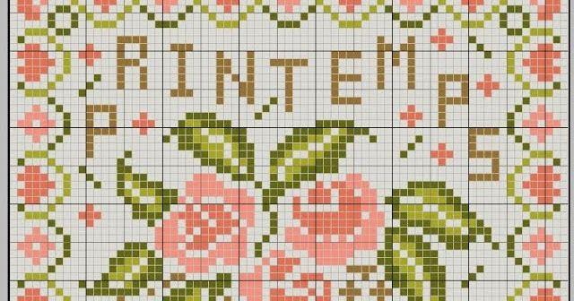 4 υπέροχα σχέδια για κεντημένα σταυροβελονιά καλάθια με λουλούδια   4 lovely cross stitch patterns of basket of flowers         Επισκεφ...