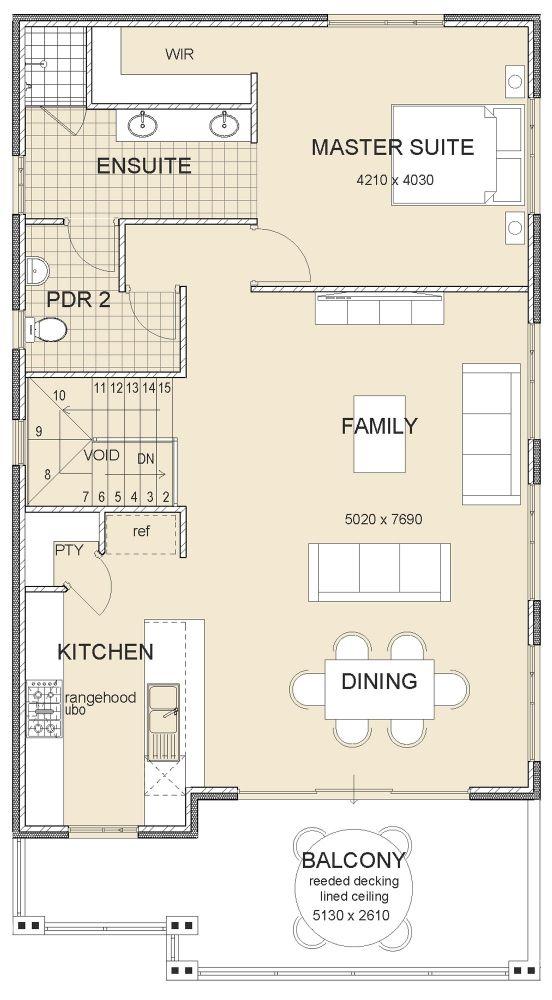 36 best reverse living house plans images on pinterest for Reverse living floor plans