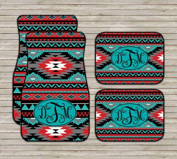 Aztec Tribal Car Mats Aztec Carmats Personalized by ChicMonogram