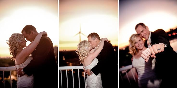 Atlantis Pavilions wedding, romantic sunset