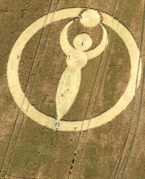 The goddess (Isis) symbol with circles and vesica piscis.