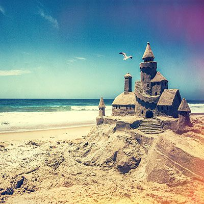 Amazing sandcastle! #sunny #sea #beach