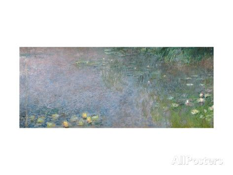 Waterlilies: Morning, 1914-18 (Centre Right Section) Giclee Print by Claude Monet at AllPosters.com