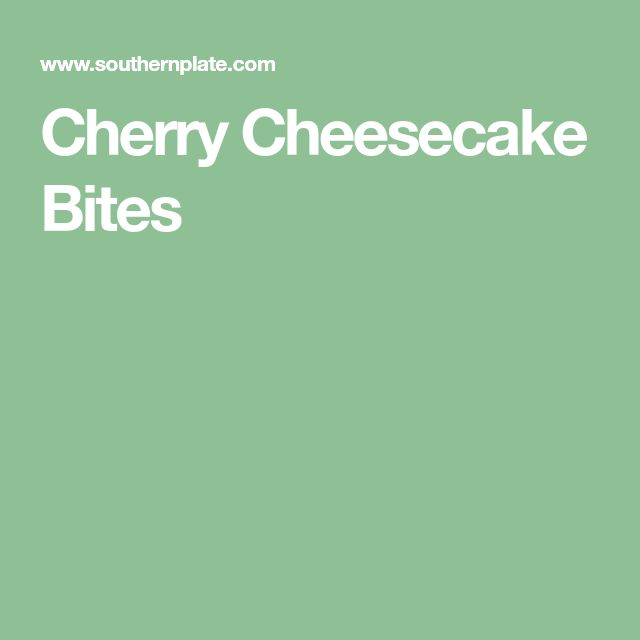 Cherry Cheesecake Bites