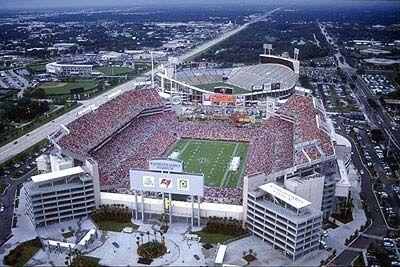 Raymond James Stadium, Home to the Tampa Bay Buccaneers