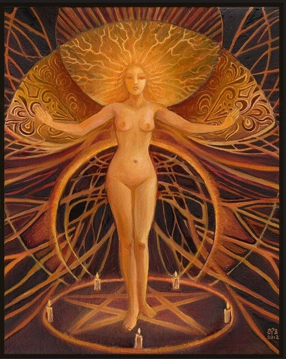 Wiccan+Goddess+Art   Initiation Pagan Witch Goddess Art 5x7 Greeting by EmilyBalivet