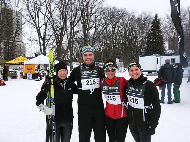 On a une bonne gang de sportifs parmi nos employés! Johanne Guillaume Mélina et Christine ont participé au Pantathlon des neiges de Québec.  #passionp5 #pantathlon #pantathlondesneiges #quebec #sportif #qcsports #laviealacapitale