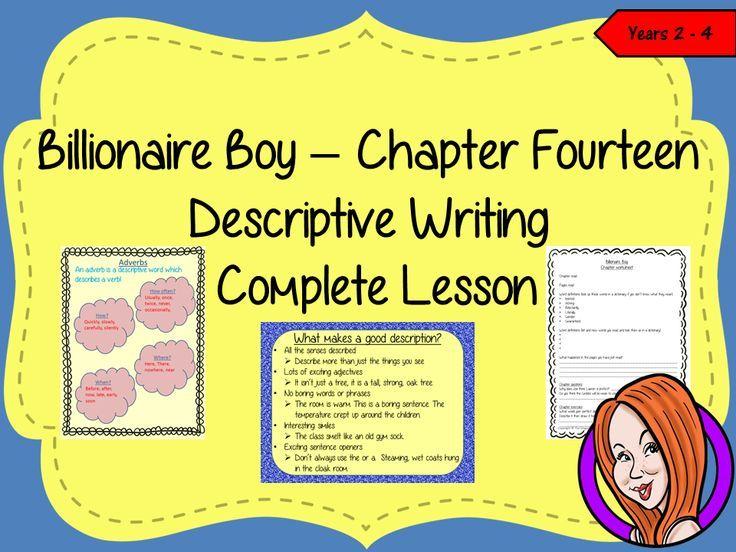 Writing Descriptive Texts Lesson  – Billionaire Boy