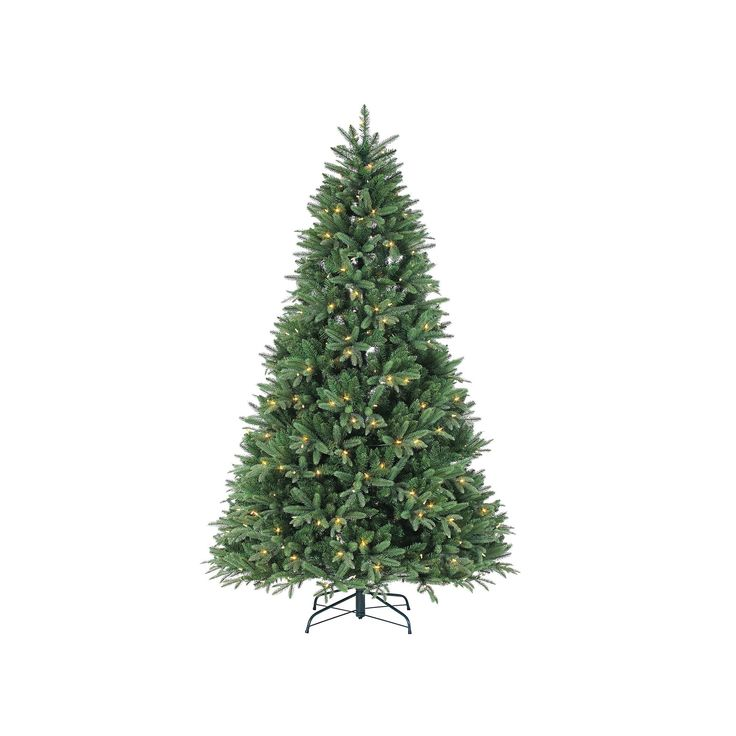 Sterling 7.5' Natural Cut LED Color Changing Dakota Pine Artificial Christmas Tree, Multicolor