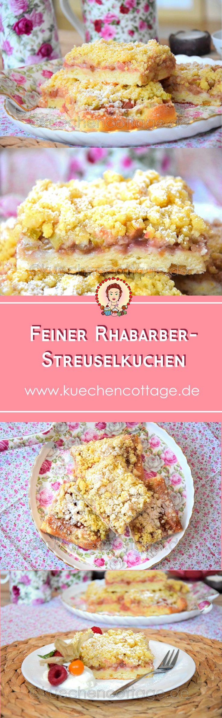 Feiner Rhabarber-Streuselkuchen | Küchencottage http://kuechencottage.de/rhabarber-streuselkuchen/ Das Rezept für den saftigen Rhabarber-Streuselkuchen gibt's bei kuechencottage.de!  #rhabarber #streuselkuchen #kuchen #backen #backenmitliebe #bakinglove #Rezept #Rezeptideen #Backideen #Blog #Foodblog #Backblog #Recipes #cake #foodporn #kuechencottage #sommer #frühling
