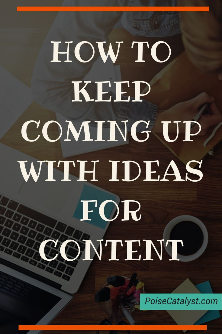 Marie Forleo ladies and gents: great tips on how to keep coming with ideas for content. Click through to check them out!