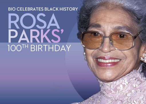 Outside text recommendation for Rosa Parks book club. 100 Facts about Rosa Parks on Her 100th Birthday.