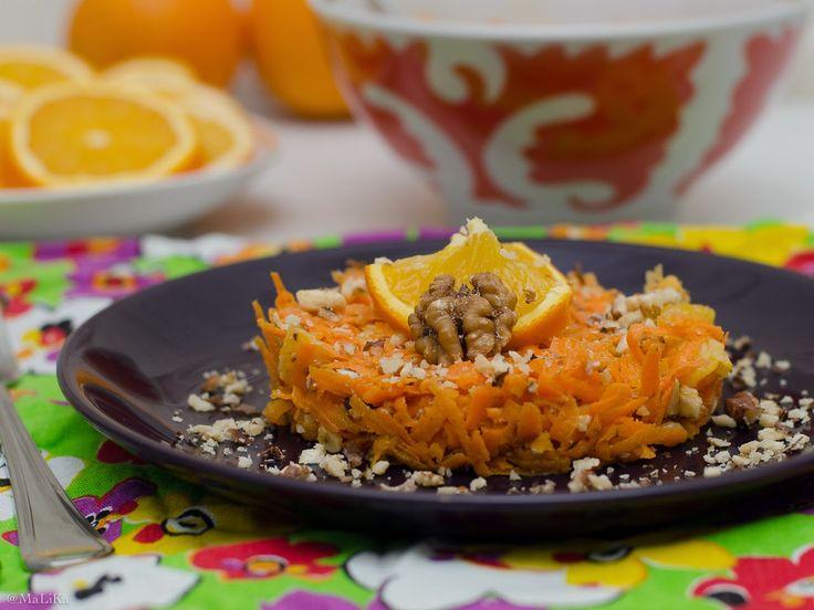 Интуитивная кухня: Морковно-апельсиновый салат с орехами