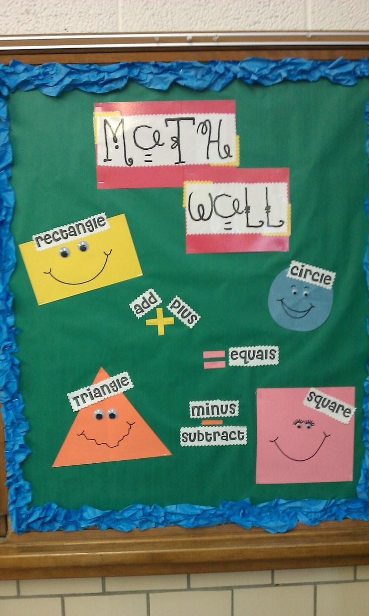 kindergarten math wall