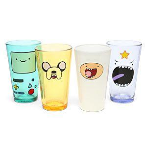 Adventure Time Face Pint Glass Set