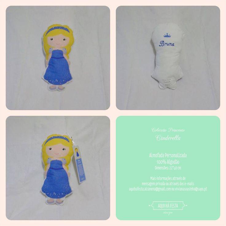 """Princess pillows! In love! Totally customized. Partnership with """"Os colares da Vi"""" #Cinderella"""