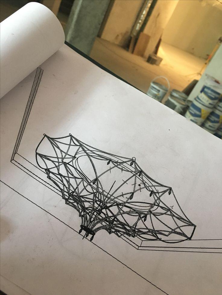 Projekt żyrandol art sztuka oświetlenie