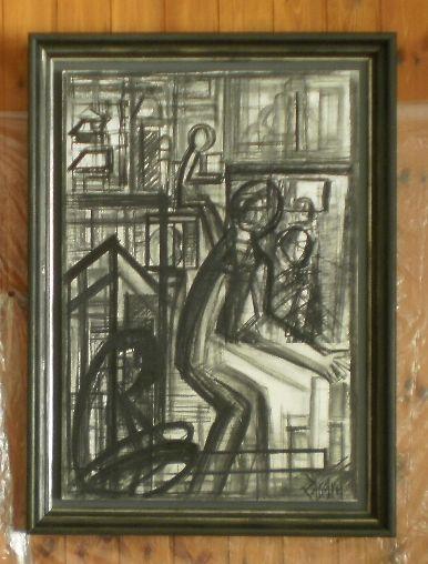 Dimensione di strutture visive, a uomo grafite, elemento fotografico, contè, china