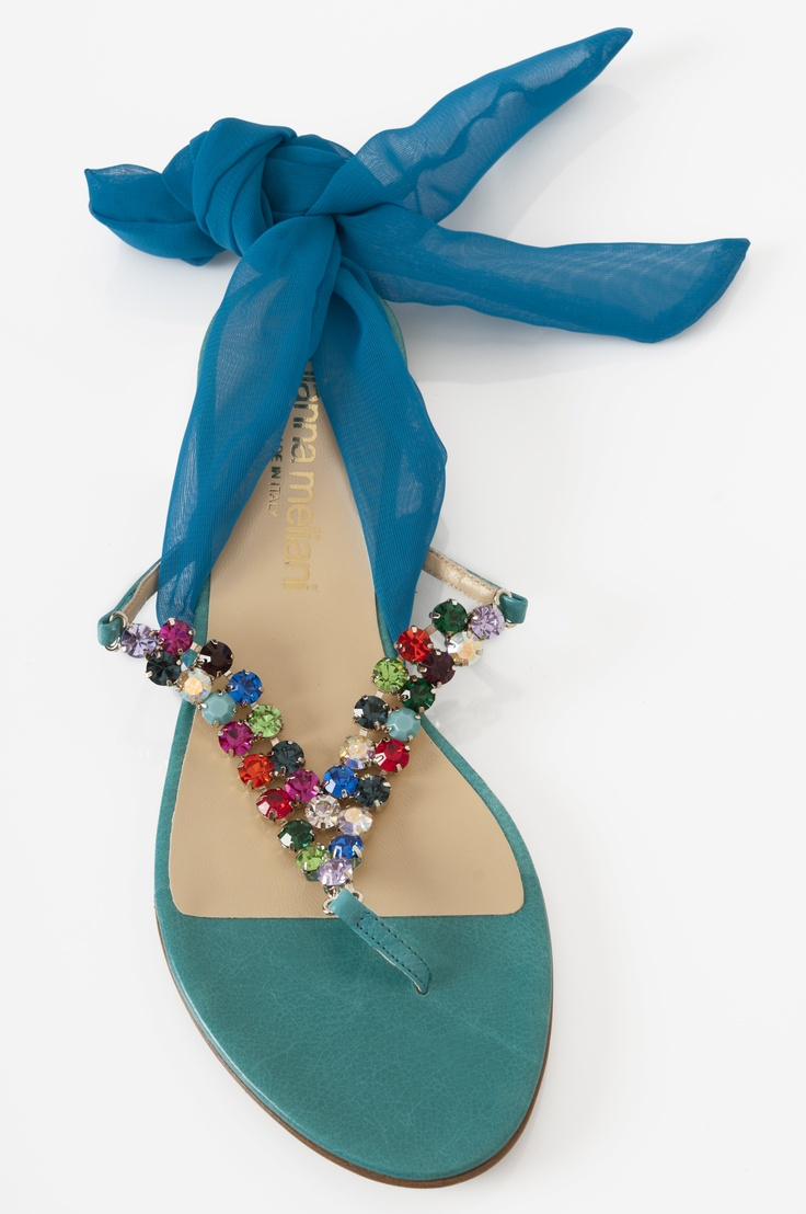 turquoise shoes/sandals..