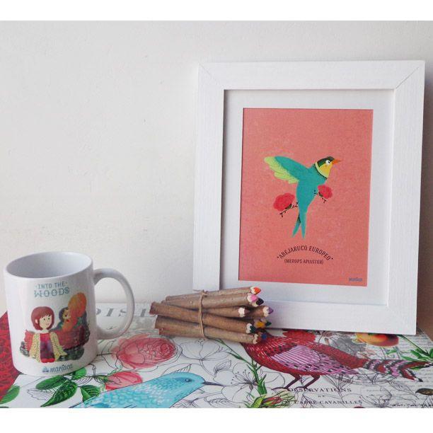 Framed artprint SOMOS COMO PÁJAROS