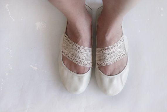 Love these! Leather and Lace Handmade Leather Ballet shoes