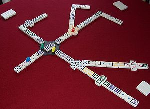 Train Dominos Game (also known as Mexican Train) -- Make dominos more challenging and fun by adding a few rules!