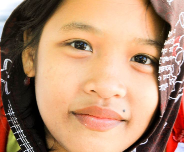 Young Balineese woman Padang Bai