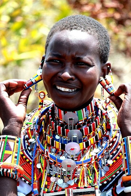 Africa | Portrait of a Maasai woman. Ngong, Rift Valley, Kenya | © Africanskies on TravelPod